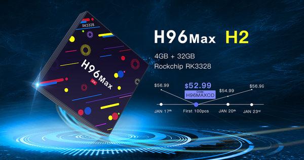 27.4% off for H96 MAX H2 4GB 32GB TV BOX